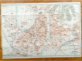 Antique Maps Of Italy Antique 1937 Map Of Verona Italy From Muirhead S Blue Guides