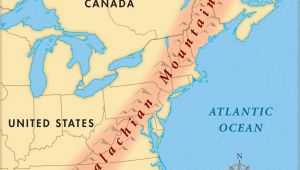 Appalachian Mountains Canada Map where are the Appalachian Mountains On A Map United States New Us