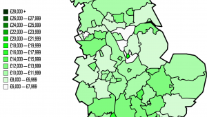 Areas Of England Map File Map Of Nuts 3 areas In England by Gva Per Capita 1996 Png