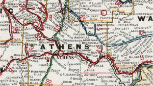 Athens Ohio On Map athens County Ohio 1901 Map Albany Nelsonville Oh
