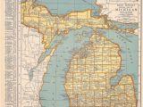 Atlas Map Of Michigan 1939 Michigan Vintage atlas Map by Oddlyends On Etsy Map Love
