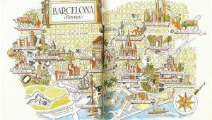 Barcelona Spain World Map Barcelona Map Print Vintage City Of Barcelona Spain Map