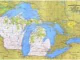 Bass Lake Michigan Map Affordable Maps Of Michigan Posters for Sale at Allposters Com