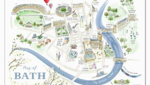 Bath On the Map Of England Alice Tait Map Of Bath Print Map Love In 2019 Bath