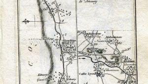 Birr Ireland Map 1778 Taylor Skinner Antique Ireland Road Map 125 126