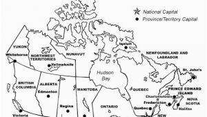 Blank Map Of Canada with Capital Cities Printable Map Of Canada with Provinces and Territories and their