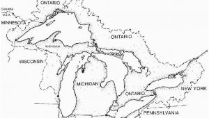 Blank Map Of Canada with Great Lakes Great Lakes Outline Map Paddle to the Sea Create A Key Start