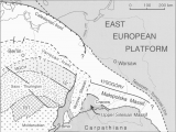 Blank Map Of Central Europe Simplified Structural Map Of Central Europe Showing the