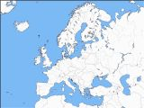 Blank Map Of Europe with Rivers Europe Map Rivers Blue Globe org