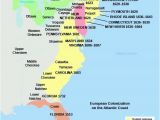 Blank Map Of New England Colonies English Settlements In America Us History I Os Collection