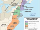 Blank Map Of New England Colonies Proclamation Of 1763 History Map Significance Facts