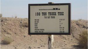 Boron California Map 195 Tpm Truck Tire Sign Boron Ca Picture Of Borax Visitor Center
