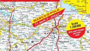 Breton France Map Marco Polo Map Brittany Products Brittany Map Map Marco Polo