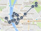 Budapest On Europe Map Best Of Budapest Hungary Sightseeing Walking tour Map and