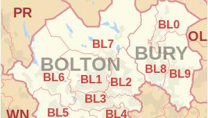 Bury England Map Bl Postcode area Wikipedia