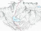 California 14ers Map Snowmass Mountain 14ers Linie Darstellung Der Ost Hange Spur Etsy
