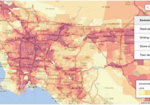 California Air Pollution Map Air Pollution In Los Angeles Air Pollution In Los Angeles
