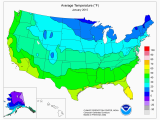 California Average Temperature Map Climate Prediction Center Monitoring and Data United States One