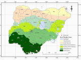 California Climate Zones Map Map Of Nigeria Showing Eco Climatic Zones Of Nigeria and Study areas