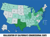 California Electoral Map Analysis Of the House Of Representatives and the Electoral College