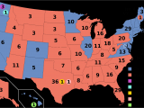 California Electoral Map Electoral Vote Changes Between United States Presidential Elections