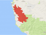 California Fire News Map soberanes Fire 2016 Zoom In to Cover the Immediate Surroundings Of