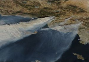 California Fire Smoke Map This Map Shows where 5 Of southern California S Biggest Wildfires