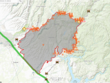 California Fires Update Map Camp Fire Interactive Map Krcr