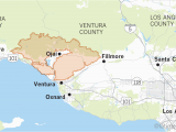 California Fires Update Map Maps Show Thomas Fire is Larger Than Many U S Cities Los Angeles