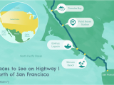 California Highway One Map Highway 1 In northern California A Drive You Ll Love