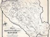 California Map Drawing Ralph Rambo S Hand Drawn Map Of Santa Clara Valley Ranchos During