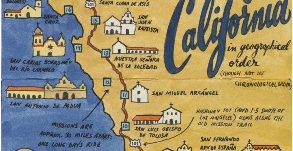 California Mission Maps Earlier This Year I Visited All 21 California Missions and Created