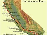 California Nevada Earthquake Map San andreas Fault Line Fault Zone Map and Photos