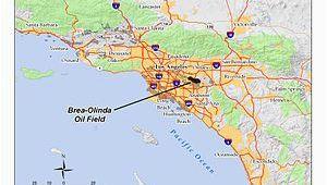 California Oil Fields Map Brea Olinda Oil Field Wikipedia