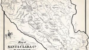 California Ranchos Map Ralph Rambo S Hand Drawn Map Of Santa Clara Valley Ranchos During