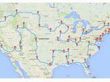 California Road Trip Trip Planner Map U S Road Trip that Hits Major Landmarks In 48 States