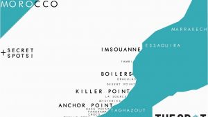 California Surf Map Morocco Surf Spot Map Www thespotmorocco Com Us Surfing In