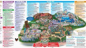 California theme Parks Map Disneyland Park Map In California Map Of Disneyland