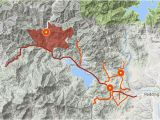 California Wildfire Evacuation Map Map Carr Fire Perimeter and Evacuations West Of Redding