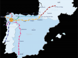Camino California Map Camino De Santiago Routes