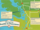 Canada Highway Conditions Map Seattle to Vancouver Canadian Border Crossing