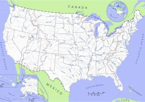 Canada Lakes and Rivers Map United States Rivers and Lakes Map Mapsof Net Camp