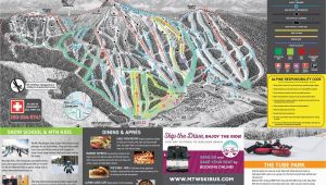 Canada Ski Resort Map Trail Map Mount Washington