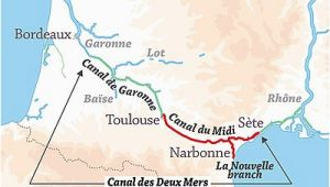Canals In France Map Canal Du Midi Wikipedia