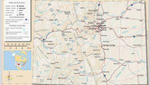 Canon Colorado Map United States Map Showing Colorado Refrence Denver County Map