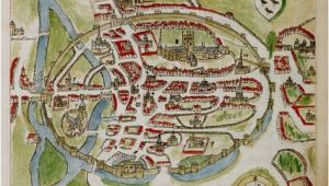 Canterbury England Map A Historic Map Of Canterbury by Anonymous British Library