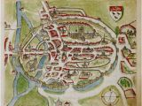 Canterbury On Map Of England A Historic Map Of Canterbury by Anonymous British Library Prints