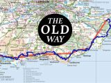 Canterbury On Map Of England the Old Way to Canterbury the British Pilgrimage Trust to the