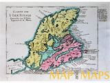Cape Breton Canada Map Cape Breton Canada L isle Royale by Berlin Schwabe 1756