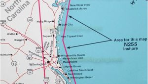 Cape Fear Map north Carolina top Spot Map N255 Cape Fear to Jacksonville north Carolina Simple
